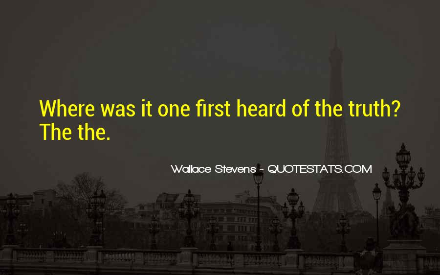Wallace Stevens Quotes #1286345