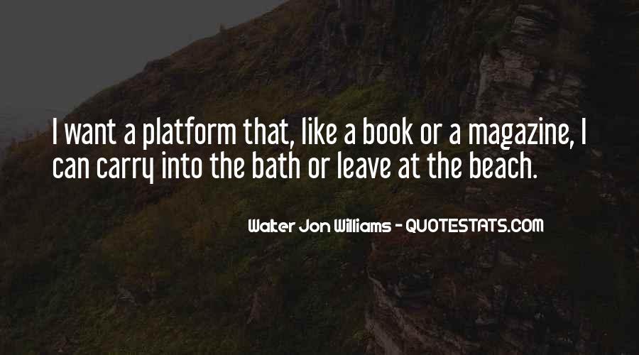 Walter Jon Williams Quotes #1875847