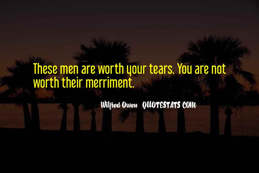 Wilfred Owen Quotes #162845