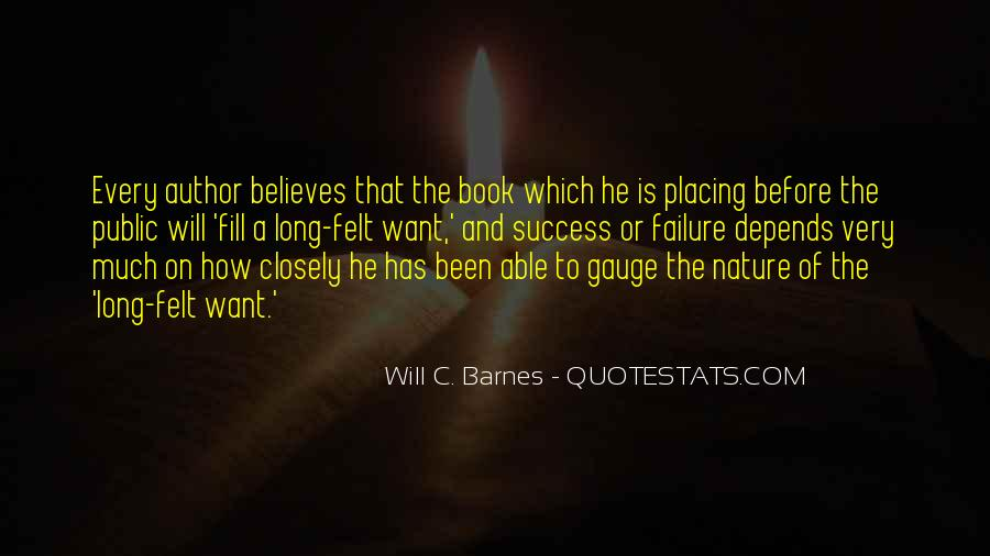 Will C. Barnes Quotes #1719346