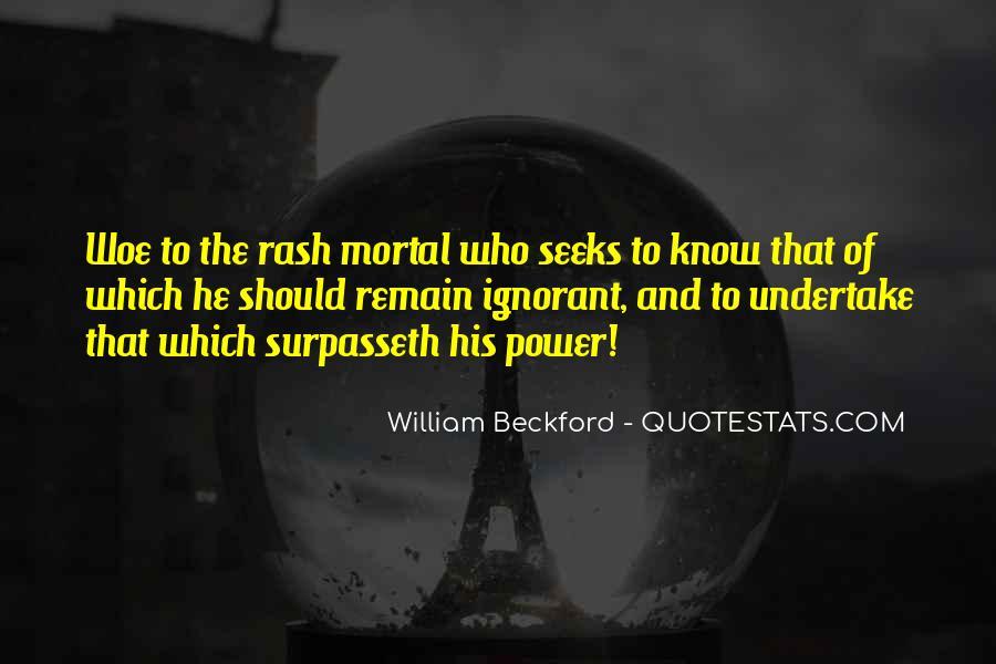 William Beckford Quotes #290587