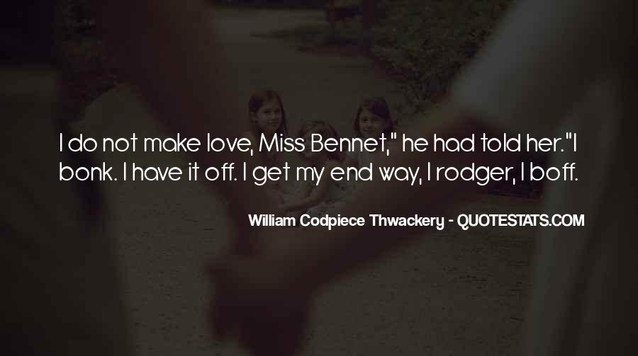 William Codpiece Thwackery Quotes #24851