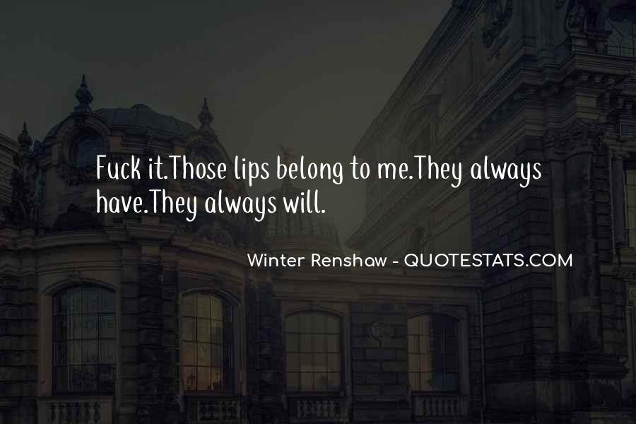 Winter Renshaw Quotes #148786