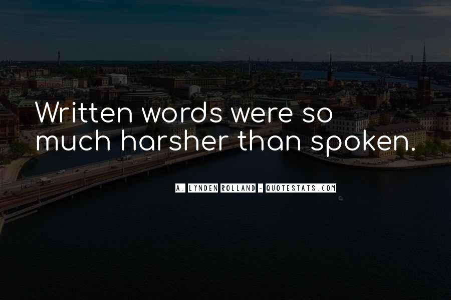 Harsher Quotes #618551