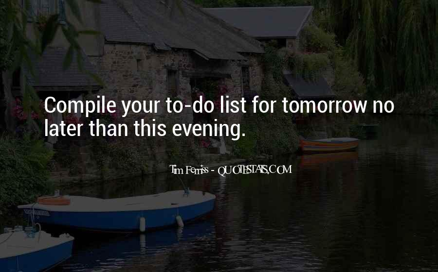 Quotes About Evening #81952