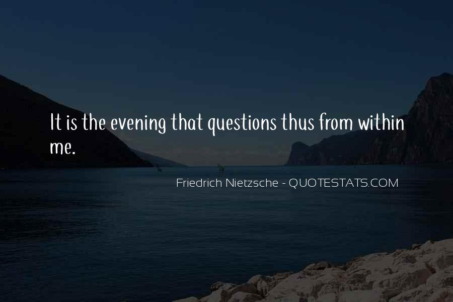 Quotes About Evening #88836