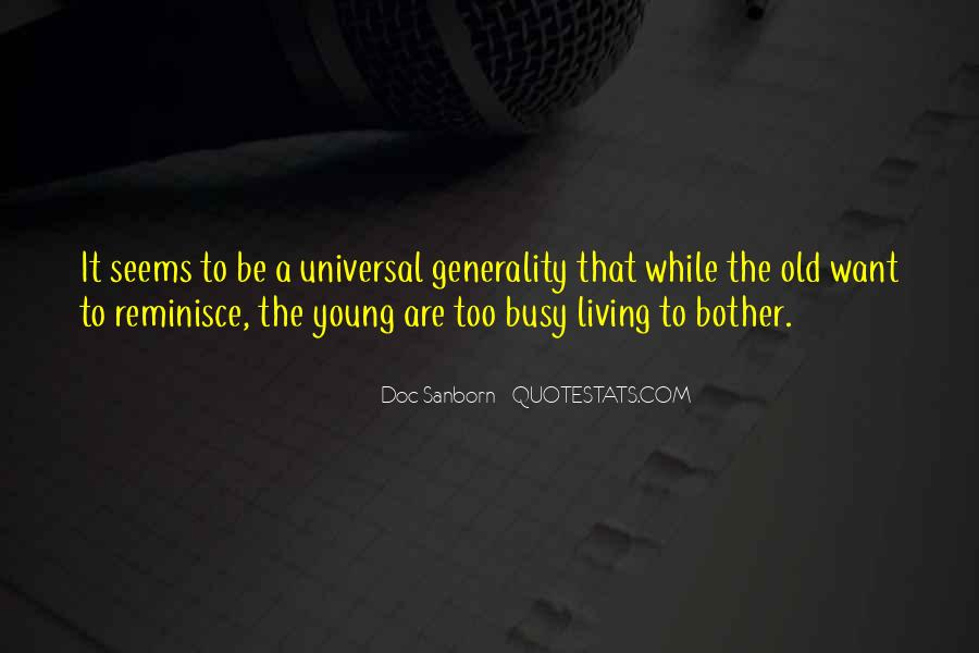 Quotes About Living Young #126812