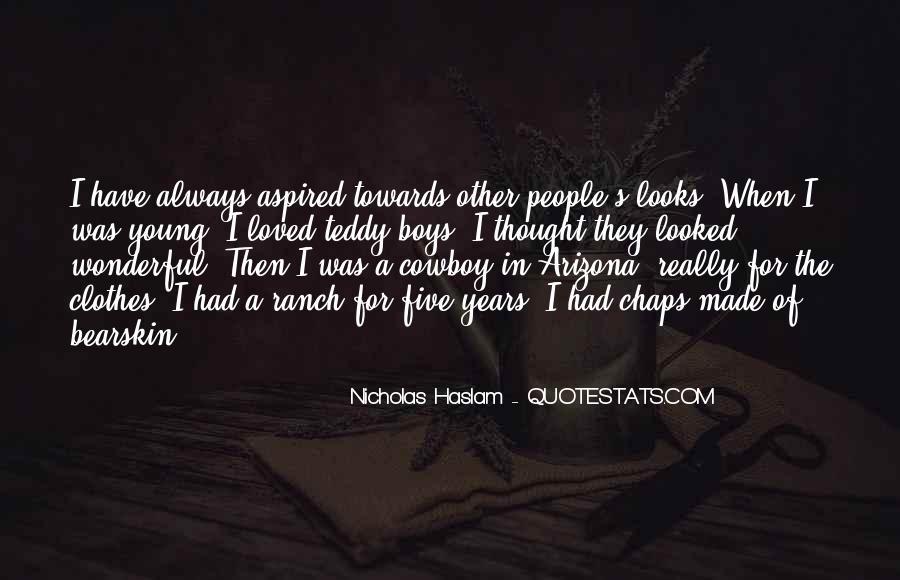 Haslam Quotes #1266031