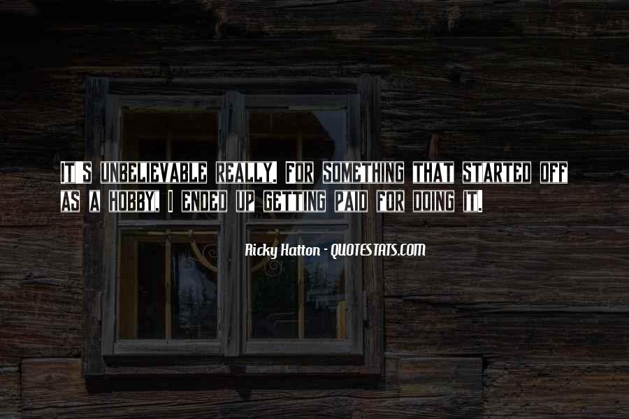 Hatton's Quotes #1181921