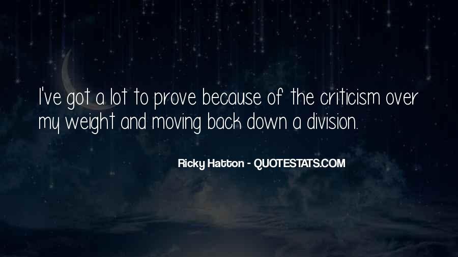 Hatton's Quotes #1560087