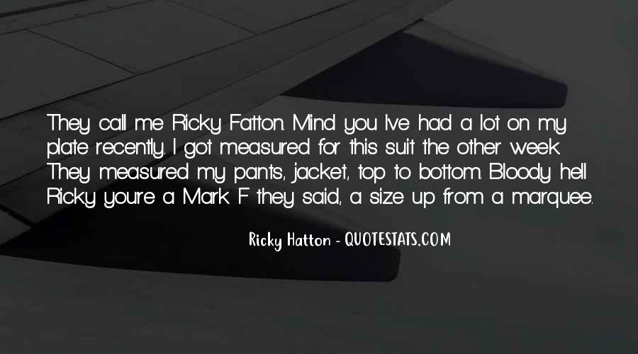 Hatton's Quotes #965135