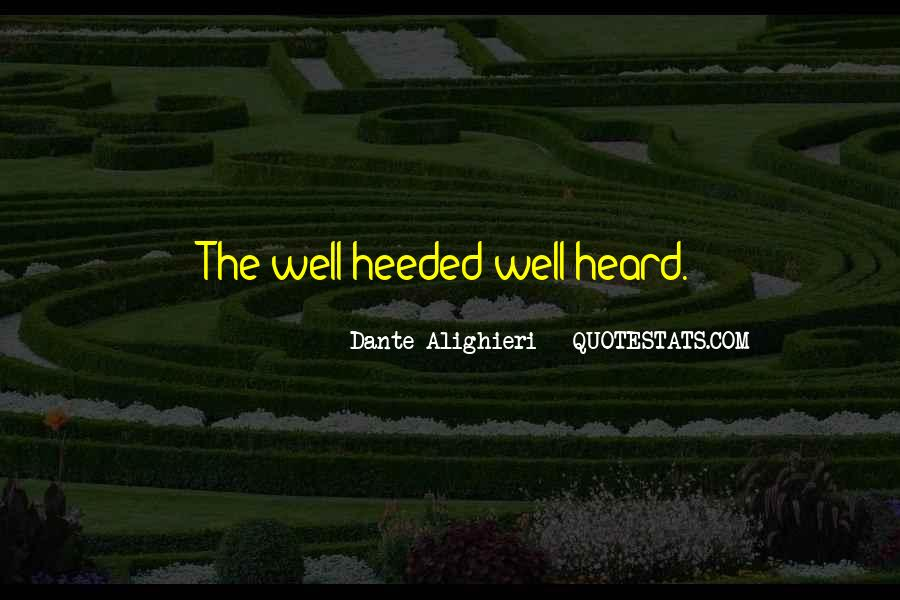 Heeded Quotes #1112188