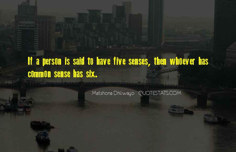 Quotes About Six Sense #1837568