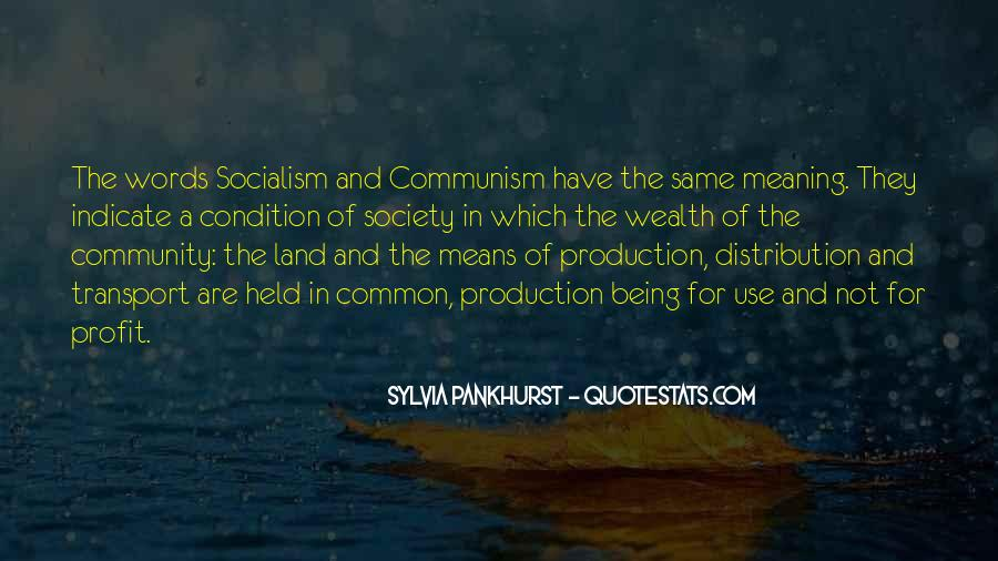 Quotes About Socialism And Communism #205827