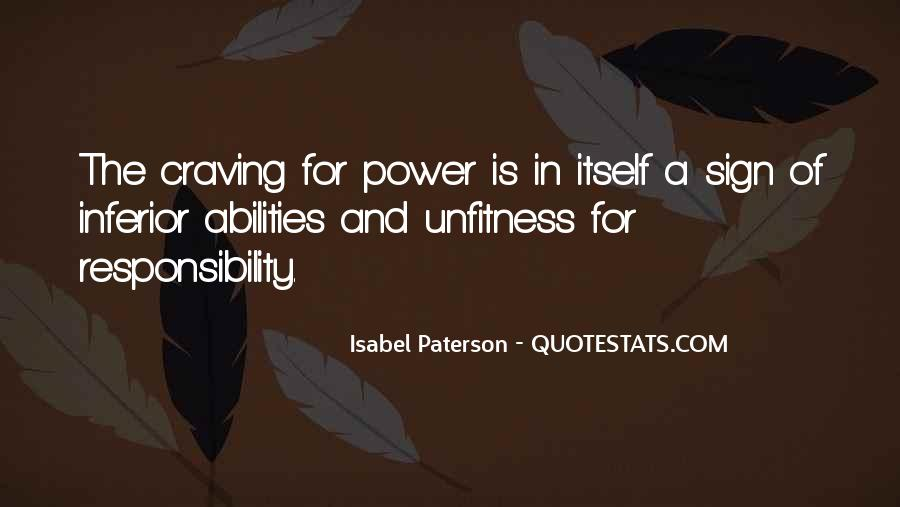 Quotes About Ability And Power #830831