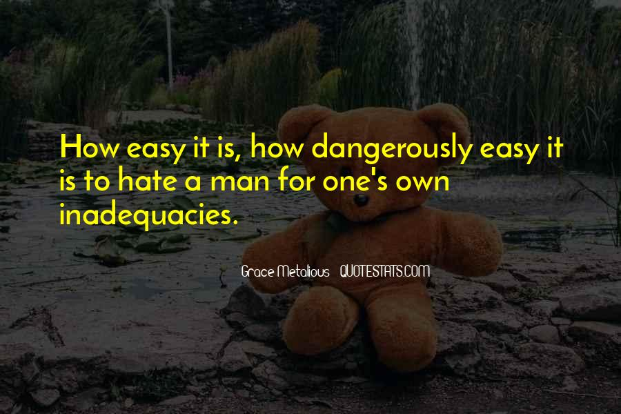 Inadequacies Quotes #1273291