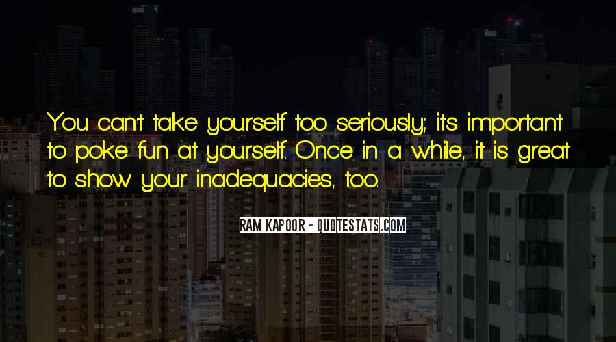 Inadequacies Quotes #1340061