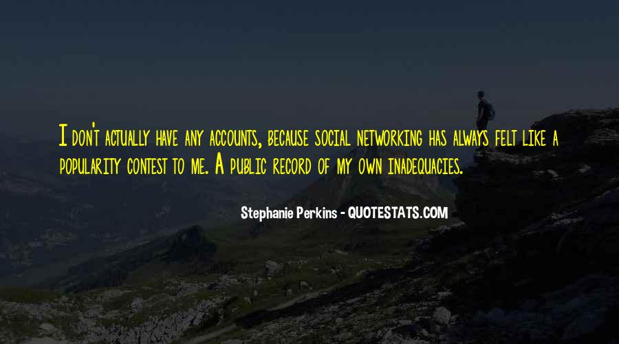 Inadequacies Quotes #205875