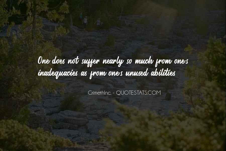 Inadequacies Quotes #532648