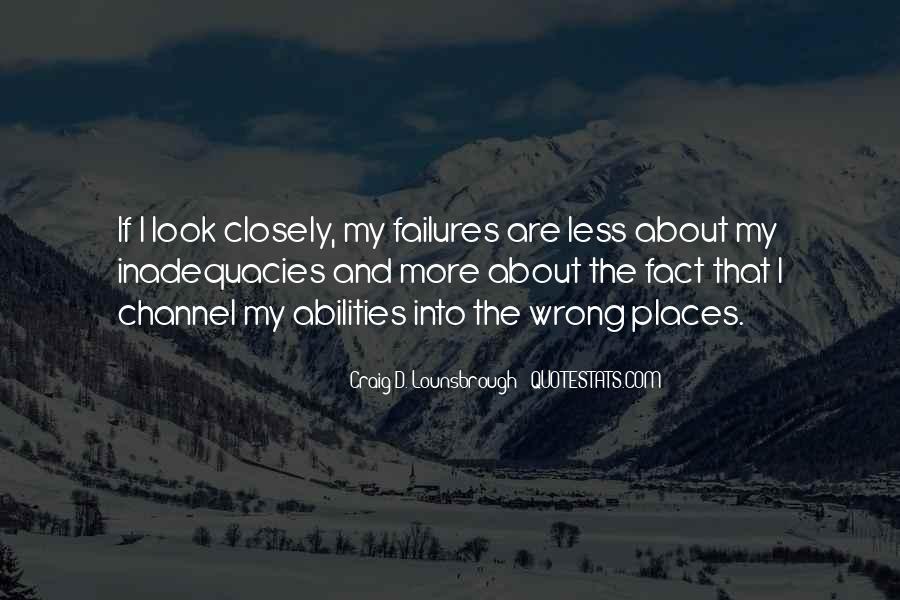 Inadequacies Quotes #604064