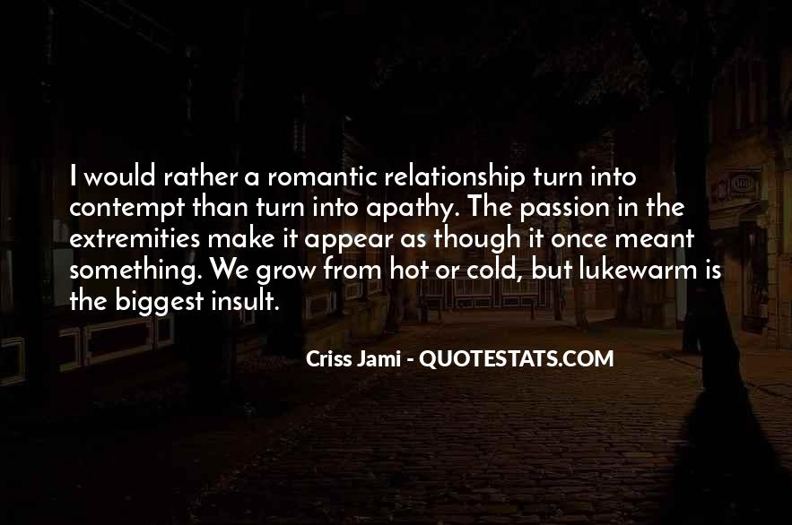 Quotes About Cold Relationship #1387907