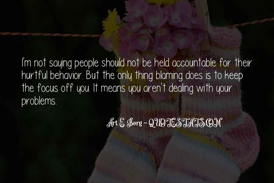 Quotes About Being Held Accountable #412029