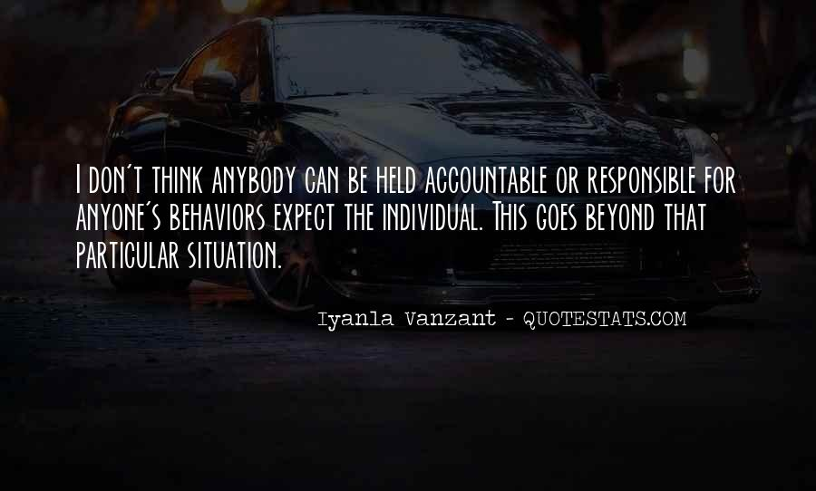 Quotes About Being Held Accountable #475747
