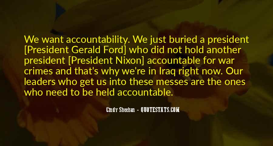 Quotes About Being Held Accountable #805764