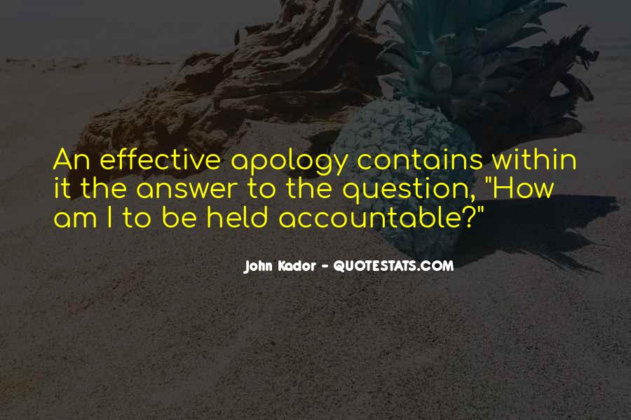 Quotes About Being Held Accountable #997822
