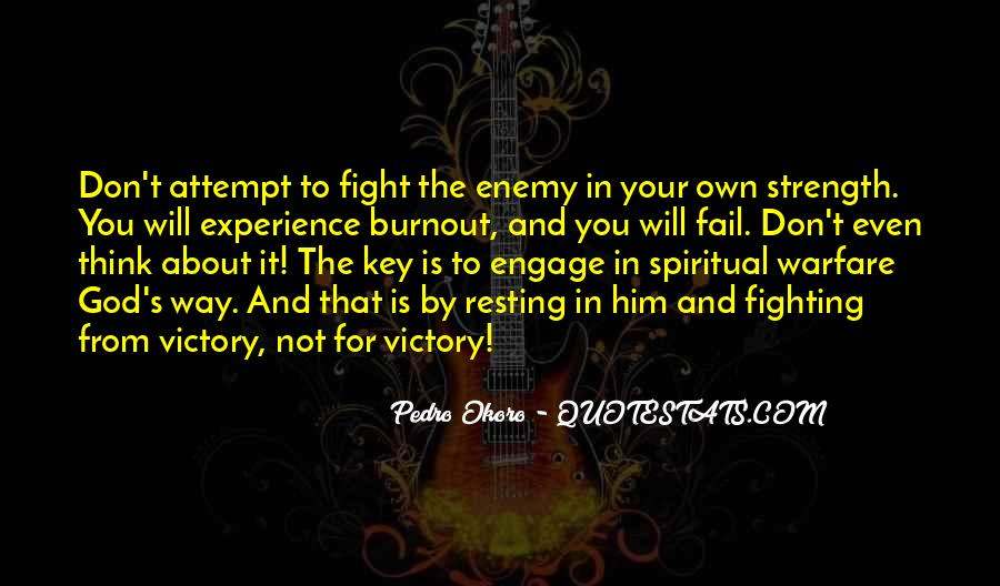 Quotes About Spiritual Warfare #1008127