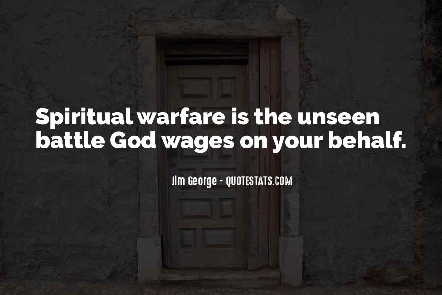 Quotes About Spiritual Warfare #711398