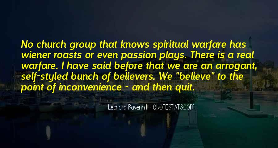 Quotes About Spiritual Warfare #770127