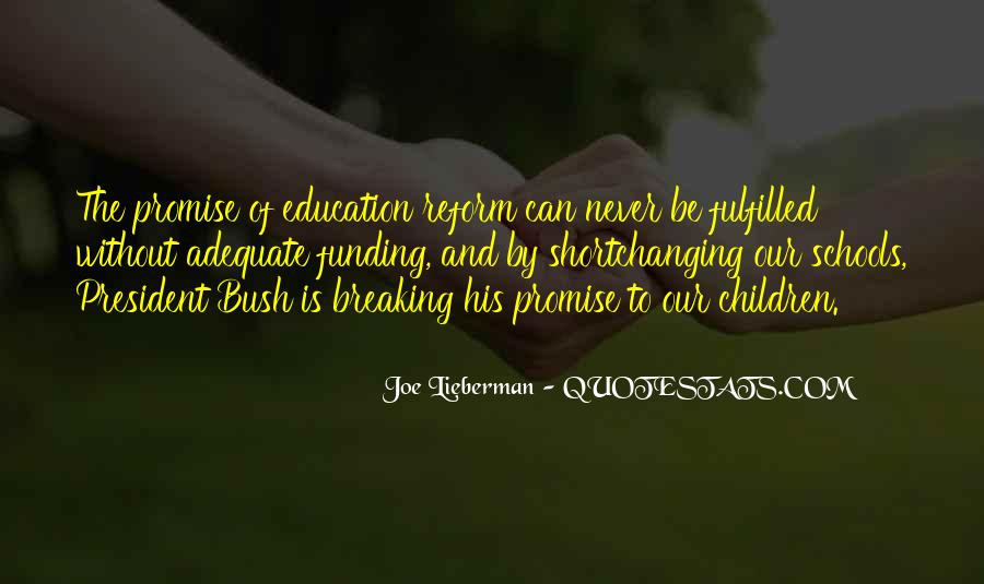 Quotes About Funding Education #441138