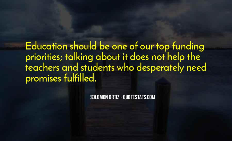Quotes About Funding Education #442838