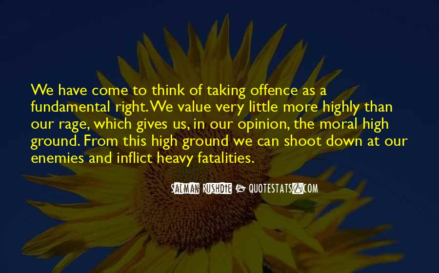 Quotes About Taking Offence #641148