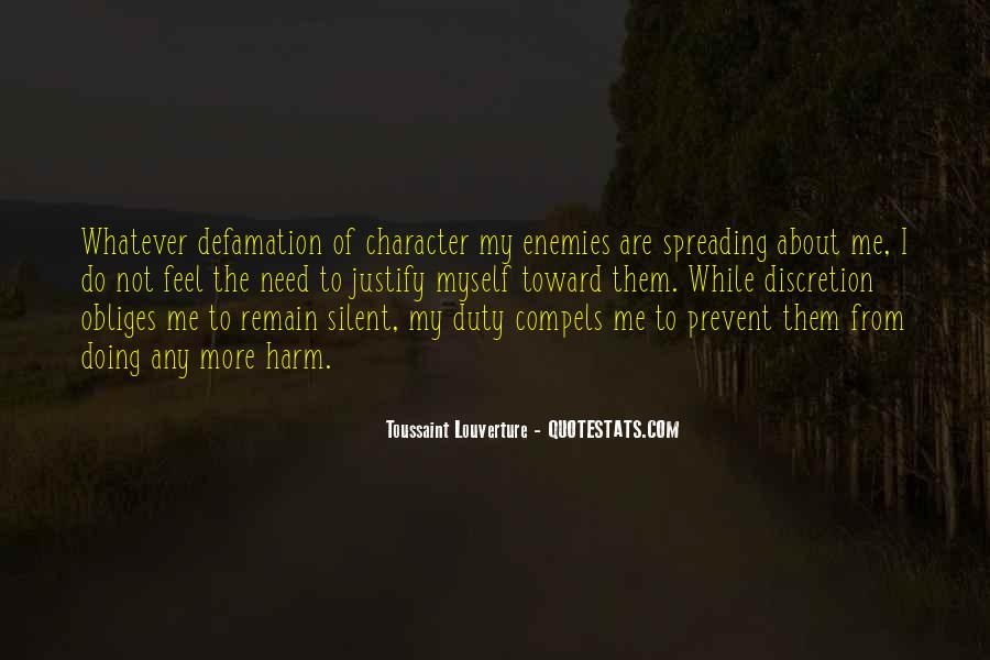 Quotes About Defamation #1868081