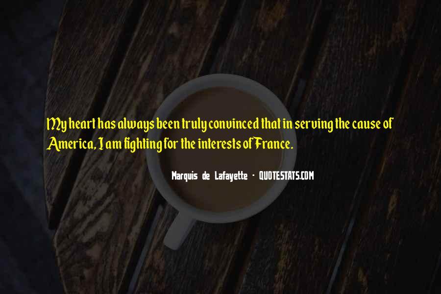 Lafayette's Quotes #13429