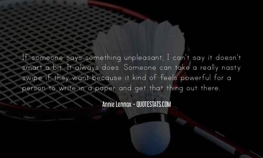 Lennox's Quotes #118037