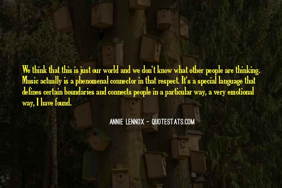 Lennox's Quotes #366584