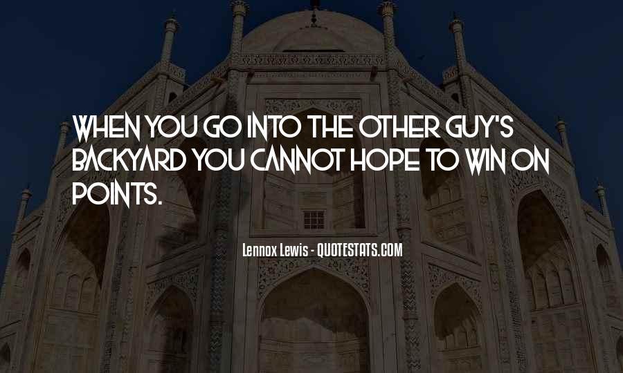 Lennox's Quotes #991021