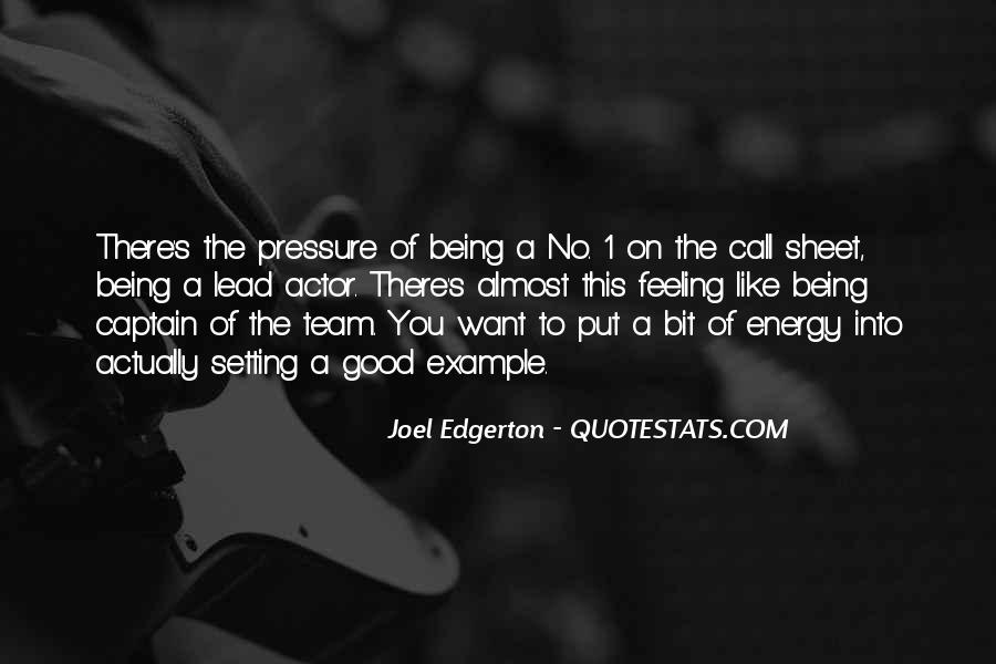 Quotes About Being Captain Of A Team #54627