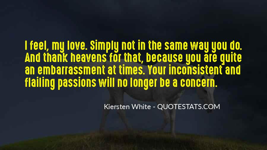 Quotes About Inconsistent Love #1692196
