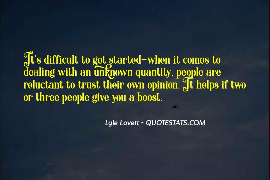 Lovett Quotes #960640