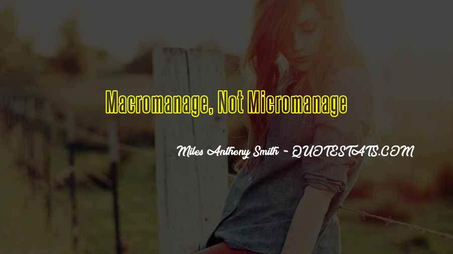 Macromanage Quotes #802663