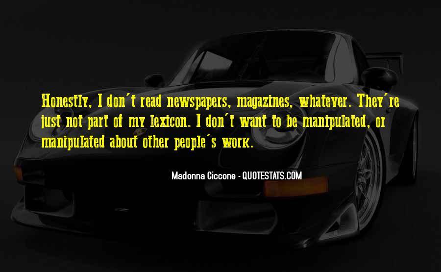 Madonna's Quotes #17944