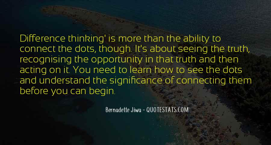 Quotes About Connecting The Dots #448062