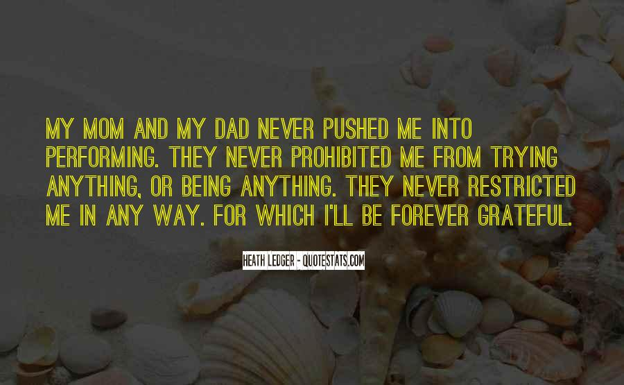 Quotes About Being A Mom And Dad #1189044