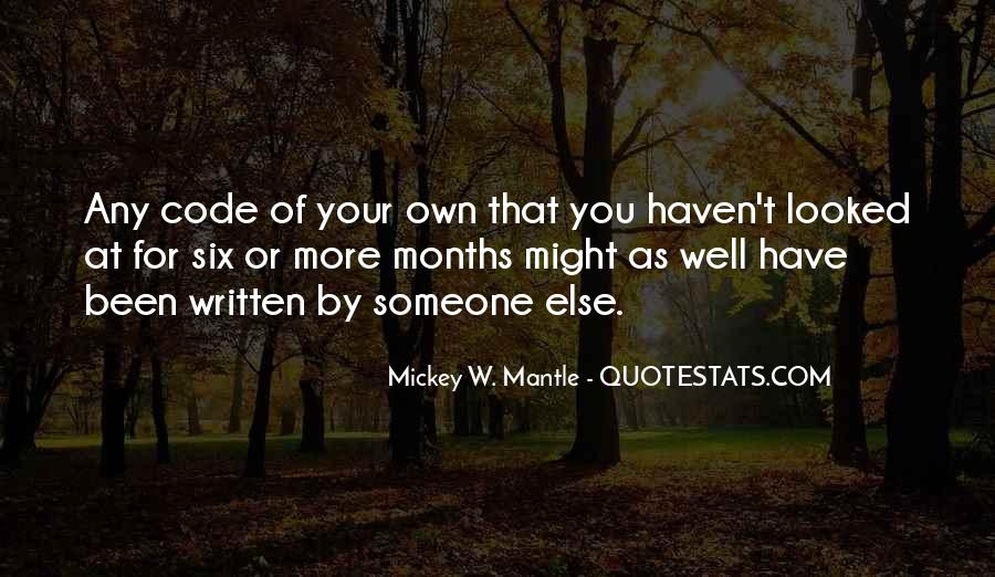 Mantle's Quotes #86054