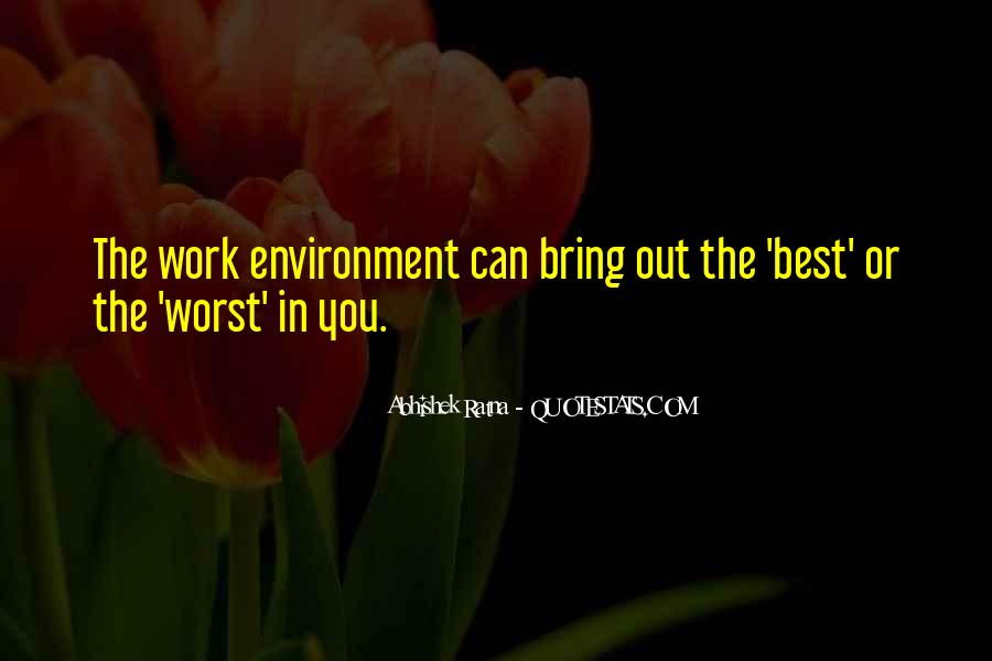 Quotes About The Business Environment #1004533