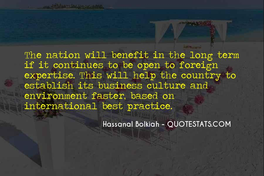 Quotes About The Business Environment #1126001